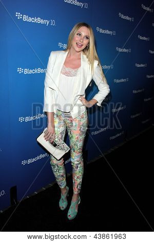LOS ANGELES - MAR 20:  Stephanie Pratt arrives at the US launch of the Blackberry Z10 Smartphone at the Cecconi's on March 20, 2013 in West Hollywood, CA