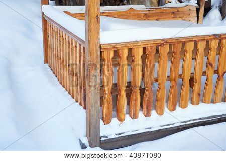 Detail Of Outdoor Porch In Winter