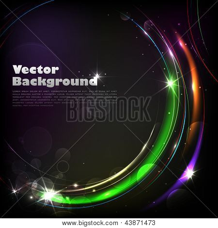 illustration of colorful abstract vector background