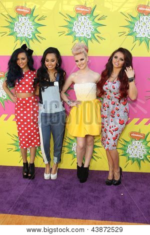 LOS ANGELES - MAR 23:  Little Mix arrives at Nickelodeon's 26th Annual Kids' Choice Awards at the USC Galen Center on March 23, 2013 in Los Angeles, CA