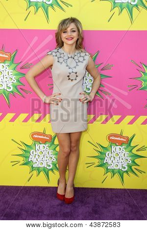 LOS ANGELES - MAR 23:  Oana Gregory arrives at Nickelodeon's 26th Annual Kids' Choice Awards at the USC Galen Center on March 23, 2013 in Los Angeles, CA