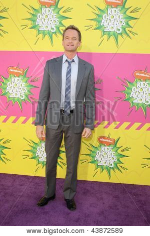 LOS ANGELES - MAR 23:  Neil Patrick Harris arrives at Nickelodeon's 26th Annual Kids' Choice Awards at the USC Galen Center on March 23, 2013 in Los Angeles, CA
