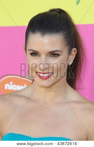 LOS ANGELES - MAR 23:  Danica Patrick arrives at Nickelodeon's 26th Annual Kids' Choice Awards at the USC Galen Center on March 23, 2013 in Los Angeles, CA