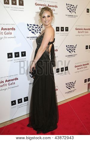 BEVERLY HILLS - MAR 23: Fiona Gubelmann at  the 2013 Genesis Awards Benefit Gala at The Beverly Hilton Hotel on March 23, 2013 in Beverly Hills, California