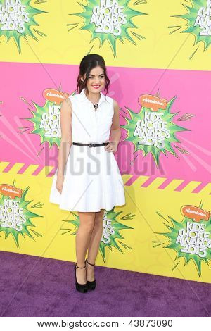 LOS ANGELES - MAR 23:  Lucy Hale arrives at Nickelodeon's 26th Annual Kids' Choice Awards at the USC Galen Center on March 23, 2013 in Los Angeles, CA