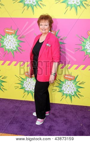 LOS ANGELES - MAR 23:  Maree Cheatham arrives at Nickelodeon's 26th Annual Kids' Choice Awards at the USC Galen Center on March 23, 2013 in Los Angeles, CA
