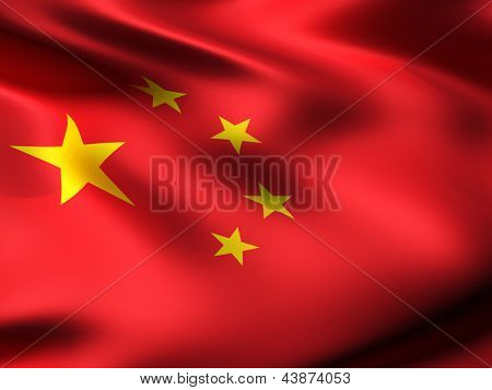 China country flag 3d illustration