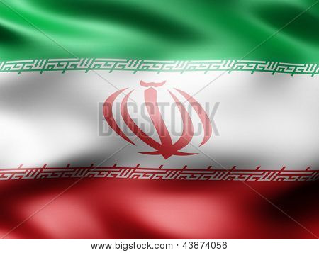 Iran country flag 3d illustration