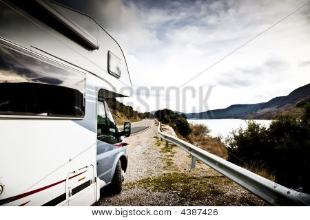 Motor Home Near The Lake