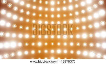 wall of lights with optical flares effect