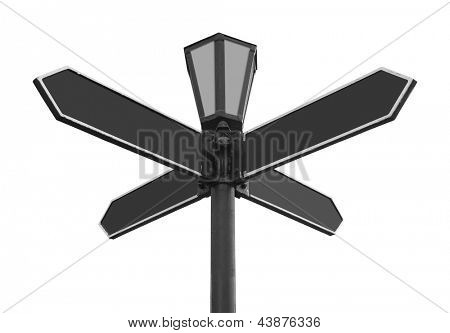Blank Directional Arrow, isolated on withe