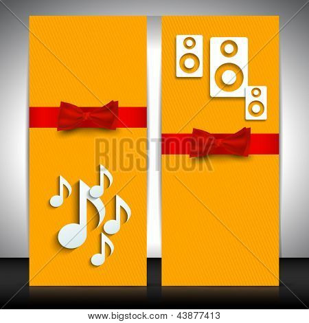 Musical website banner set. EPS 10.