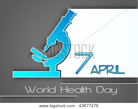 Abstract World health day concept.