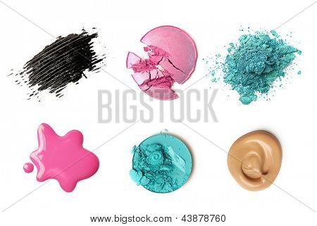 Make-up-Produkte, isolated on white