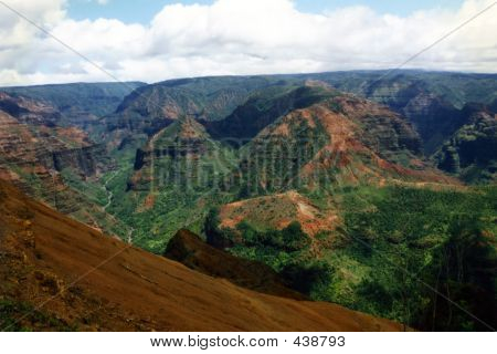 Waimea Canyon In Kauai Hi