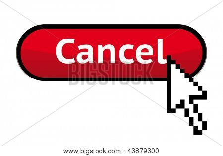 Cancel button with cursor