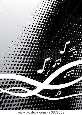 Dot music background
