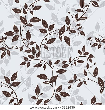 Stylish Vector seamless floral spring pattern, Beautiful illustration texture