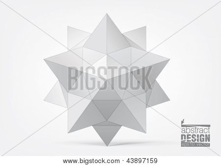 geometric figure in the form of star for graphic design