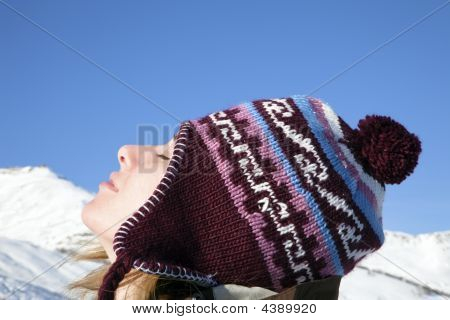 Woman Enjoying Mountain