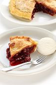 picture of cherry pie  - cherry pie with ice cream - JPG