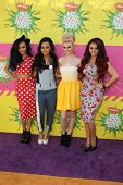 LOS ANGELES - MAR 23:  Little Mix  arrives at Nickelodeon's 26th Annual Kids' Choice Awards at the U