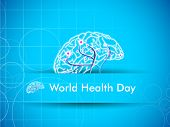 Abstract World health day concept with human brain.