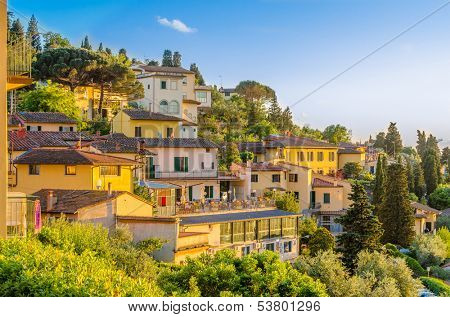 Beautiful view of Fiesole, Florence, Italy.