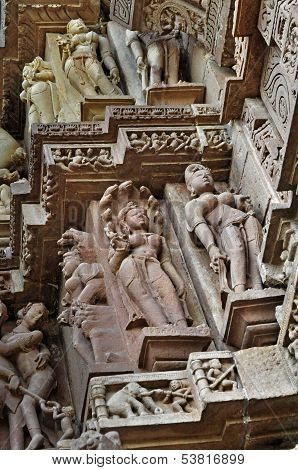 Apsaras And Surasundaris, Khajuraho, India -  Unesco World Heritage Site.