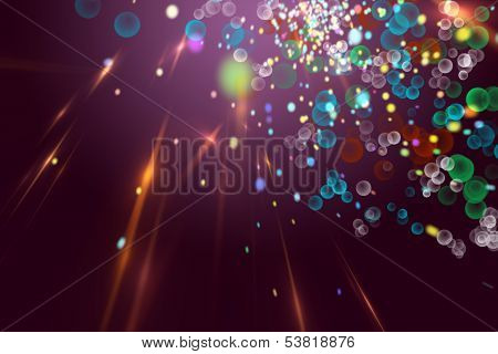 Futuristic Technology Background Design With Glowing Lights