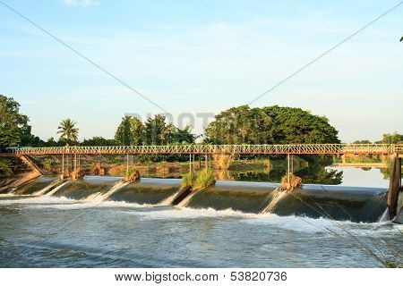 Weir And Bridge