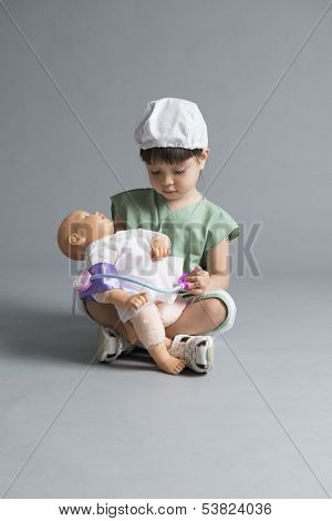 Child Taking Blood Pressure
