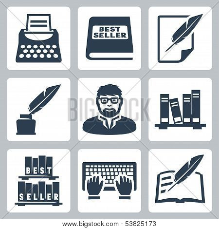 Vector Writer Icons Set
