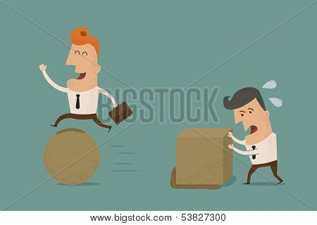 Businessman wise , eps10 vector format