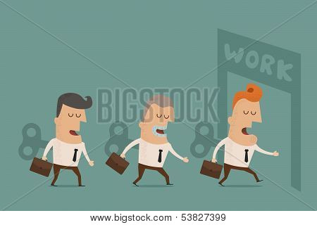 Businessman With Wind-up Key In His Back vector format
