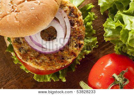 Organic Grilled Black Bean Burger