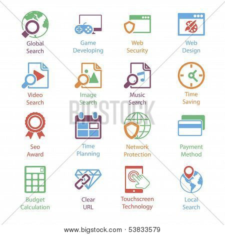 Color Internet Marketing Icons Vol 3