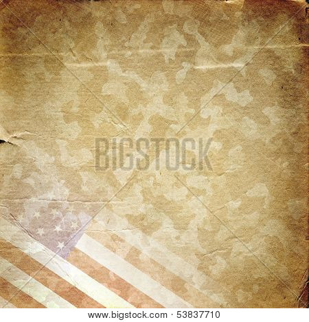 Grunge Background militar em amarelo