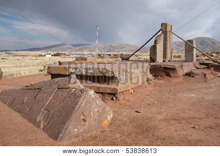 Megalithic Ruins of Puma Punku, Tiwanaku, Bolivia