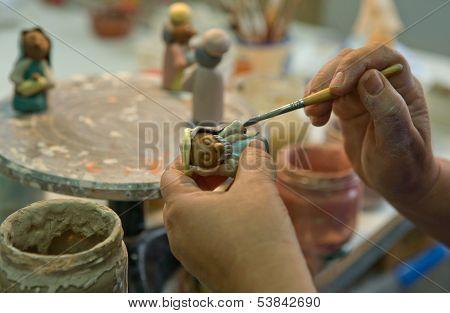 Painting Handmade Clay