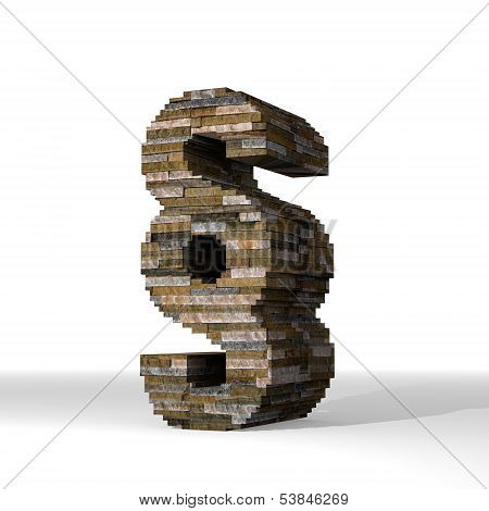 3D Graphic Of A Judicial Law Symbol  Built Out Of Stones