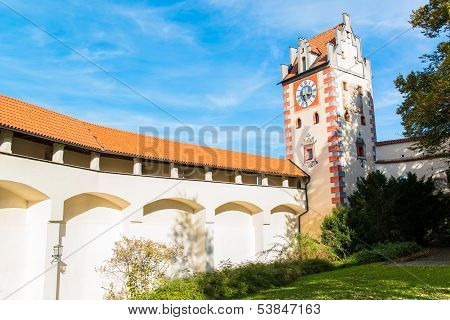 Castle in Fussen  Bavaria, Alps , Germany, Europe
