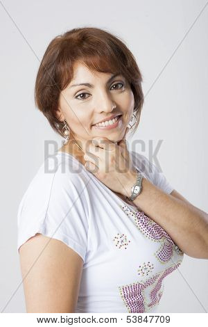 latin pretty middle aged woman