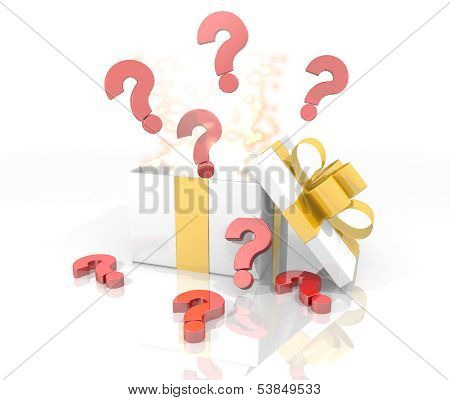 Christmas Present With Question Icon