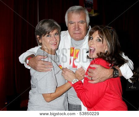 LOS ANGELES - OCT 6:  Char Griggs, John McCook, Kate Linder at the Light The Night The Walk to benefit the Leukemia-Lymphoma Society at Sunset-Gower Studios on October 6, 2013 in Los Angeles, CA