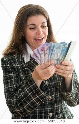 Businesswoman Making Money