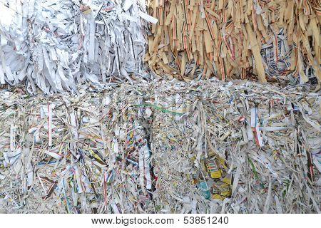 waste paper bales