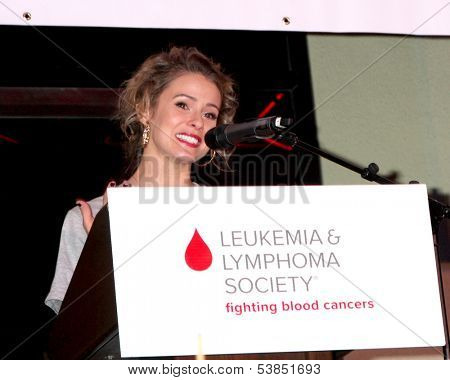 LOS ANGELES - OCT 6:  Linsey Godfrey at the Light The Night The Walk to benefit the Leukemia-Lymphoma Society at Sunset-Gower Studios on October 6, 2013 in Los Angeles, CA