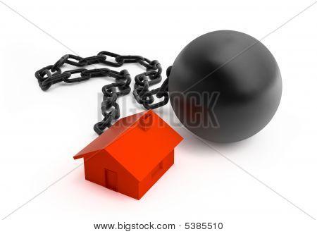 Grilhões e casa vermelha