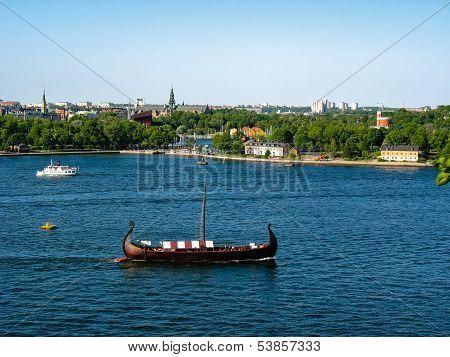 Drakkar On The Baltic Sea